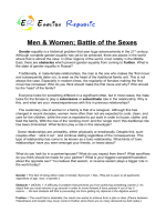 Battle of Sexes (English Topic)