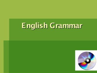 English Grammar-children's project