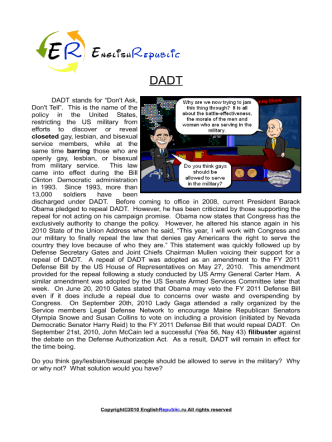 DADT (English Topic)