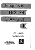 Progress in English Grammar 1