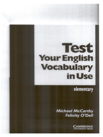 Test your English vocab in use Elementary