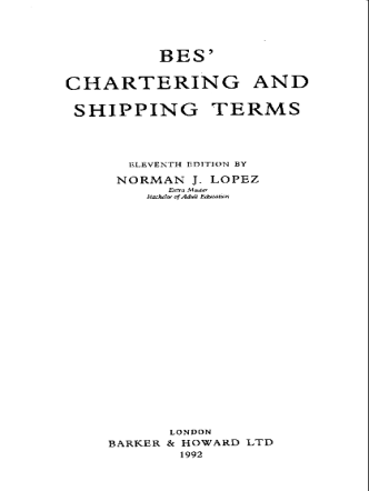 Lopez N. - Chartering and Shipping terms - 1992
