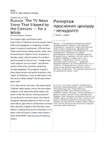 TIME The TV news censors in Russia