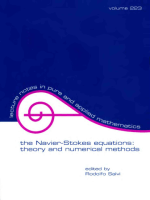 Salvi R. The Navier-Stokes Equations.. Theory And Numerical Methods (Dekker, 2002)