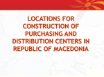 purchasing and distribution centers in republic of macedonia