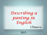 Describing a panting in English