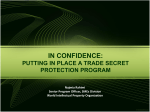 PUTTING IN PLACE A TRADE SECRET PROTECTION