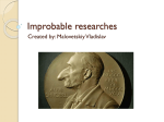Improbable researches