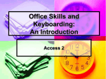 Office Skills and Keyboarding