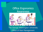Office Ergonomics Awareness - The George Washington University