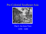 Pre-Colonial Southeast Asia Part I