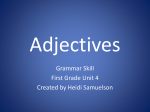 Adjectives - Jefferson County Public Schools