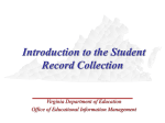 Introduction to the Student Record Collection