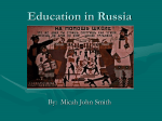 Education in Russia - Valdosta State University