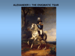 "Alexander I: ""The Blessed"""