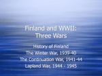 Finland and WWII: Three Wars