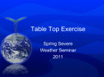 Table Top Exercise - NWS Central Region Headquarters