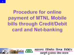 To pay landline bill online through Credit/Debit card