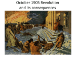 October 1905 Revolution and its effects