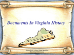 Major Documents In Virginia History