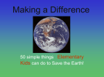 50 Things Kids can do to save the earth Power Pt.