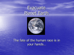 Evacuate Planet Earth Power PointPresentation