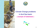Climate Change problems in Aral Sea basin ( example of