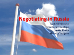Negotiating in Russia
