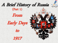 Russian History Part 1