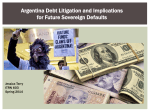 Argentina Debt Litigation and Implications for Future Sovereign