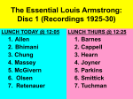 The Essential Louis Armstrong: Disc 1 (Recordings 1925