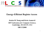 Energy-Efficient Register File Design