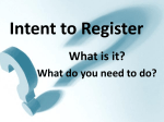Intent to Register