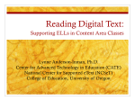Reading Digital Text: