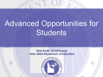 Advanced Opportunities Presentation