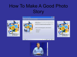 How To Make A Good Photo Story