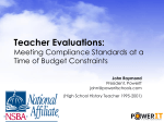 """New Day Dawning: Teacher Evaluations at the"