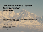 Swiss Political System Introduction 1