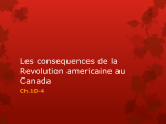 Les consequences de la Revolution americaine au Canada