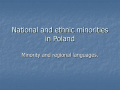 National and ethnic minorities in Poland - EBP