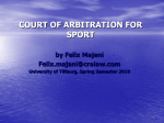 COURT OF ARBITRATION FOR SPORT