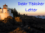Dear Teacher Letter