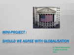 Mini-project : Should we agree with globalisation