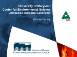 Phone Training - Chesapeake Biological Laboratory