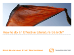 How to do an Effective Literature Search?