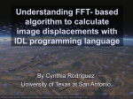 Implementing FFT-algorithm to calculate image displacements with