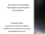 Motivation to Read: Its Nature and Classroom Conditions