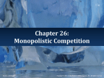 Monopolistic Competition - McGraw