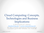 Cloud Computing: Concepts, technologies and business imperatives
