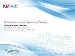 Building an Intranet Governance Strategy Workshop